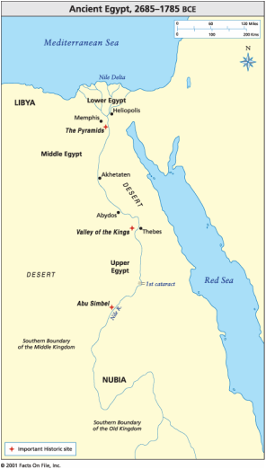 Egypt Map Ancient Egypt